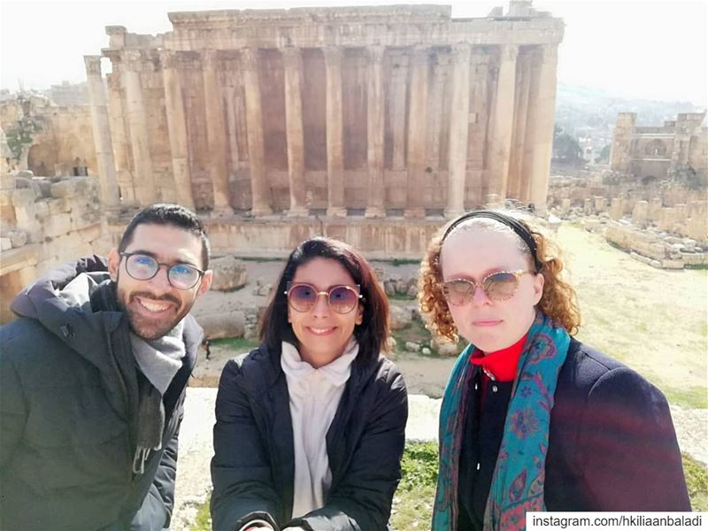And this is how we started the New Year,  private tour to  Baalbeck......