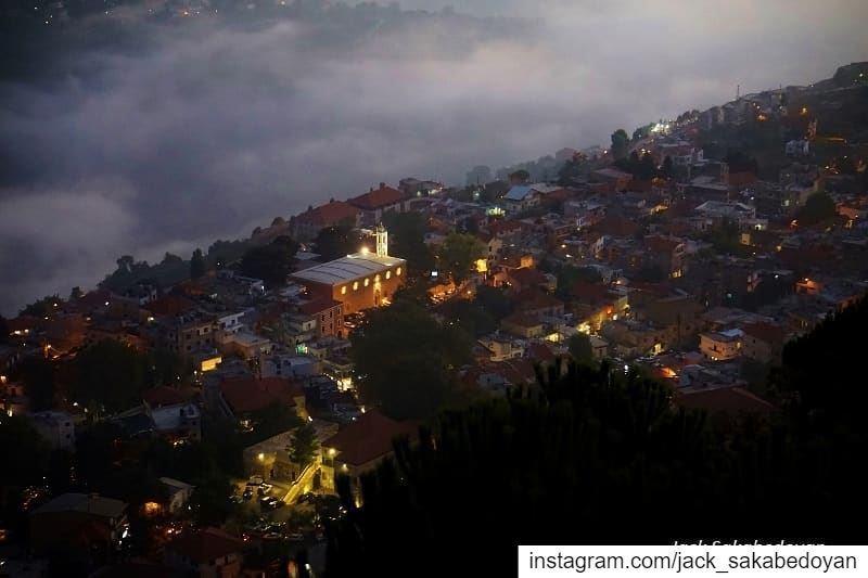 Ehden on a fogy night  ehden  northlebanon  lebanon  liban  nordliban ...