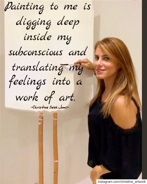 """Painting to me is digging deep inside my subconscious and translating my..."