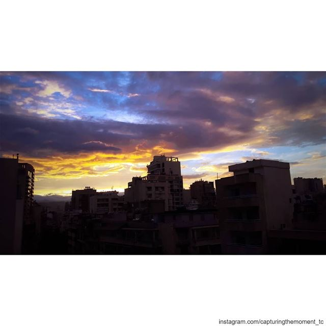 sunset sun clouds cloudy day landscape awesomeshots awesome_earthpix... (Hamra, Beyrouth, Lebanon)
