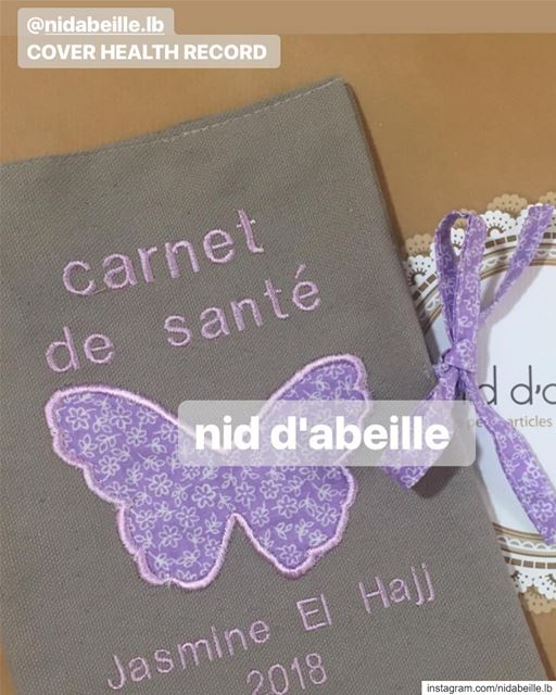 Flower power 💜 Write it on fabric by nid d'abeille  healthrecord  cover ...