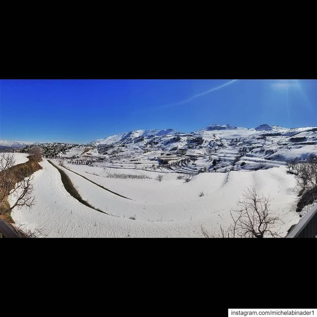 lebanon  winter  panoramic  panoramicoftheday  photography  photographer ... (Lasa, Mont-Liban, Lebanon)