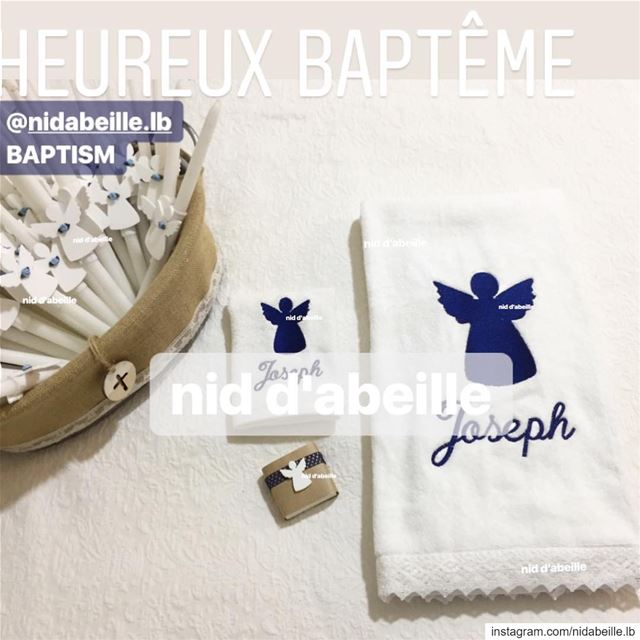 Angel sent from up above 😇 BAPTISM SET! Write it on fabric by nid d'abeill