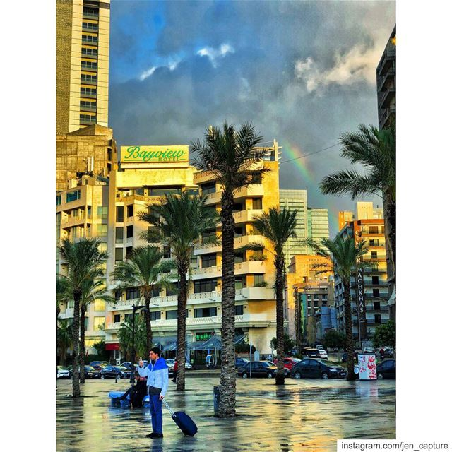 "🌈""Be a rainbow in somebody else's cloud!""🌈••• MayaAngelou  Beirut ... (Beirut, Lebanon)"