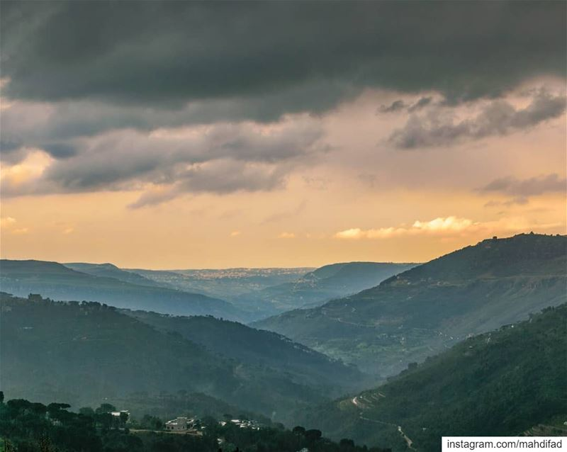 Jezzine sunset southern valley Clouds Nature Landscape Photography... (Jezzîne, Al Janub, Lebanon)