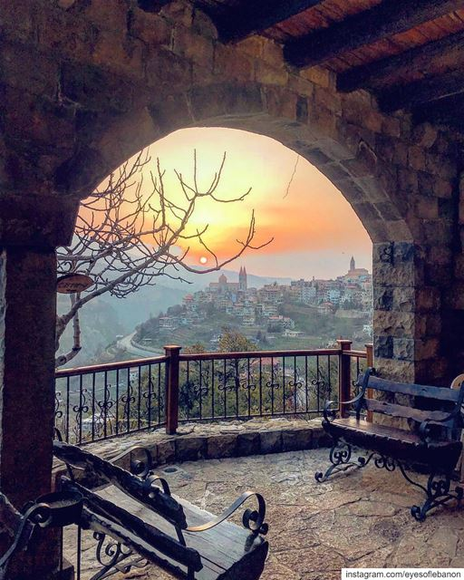 An amazing sunset from Becharreh 😍😍Credits to @tonygsuccar lebanon ... (متحف جبران خليل جبران)