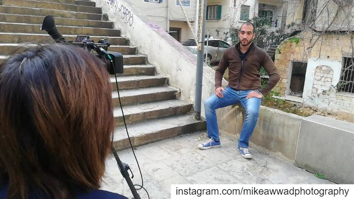 During last day shooting with قناة الغد المصرية about Beirut Heritage and...