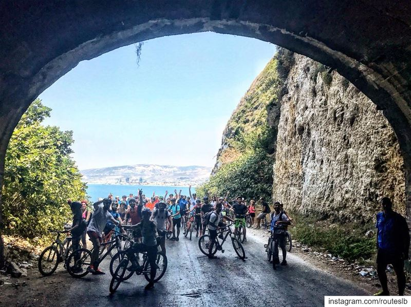 Flashback 2017 the amazing historical tunnel of chekka 🚴‍♂️. tunnel ... (Batroûn)