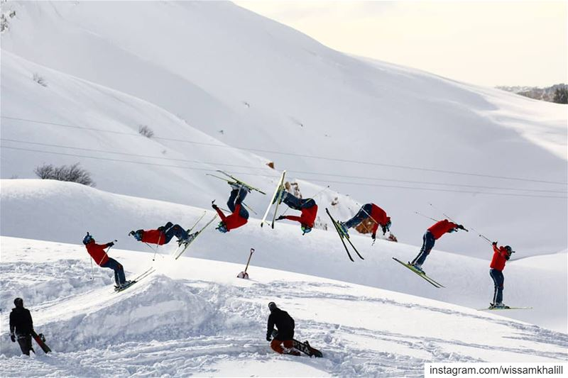 Season still going 🎿⛷️ lebanon  lebanonlovers  backflip  mzaar ... (Mzaar Ski Resort)