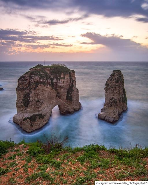 Beautiful evening at The Pigeon rocks of Beirut - Before the storm 18/3/201 (Beirut, Lebanon)