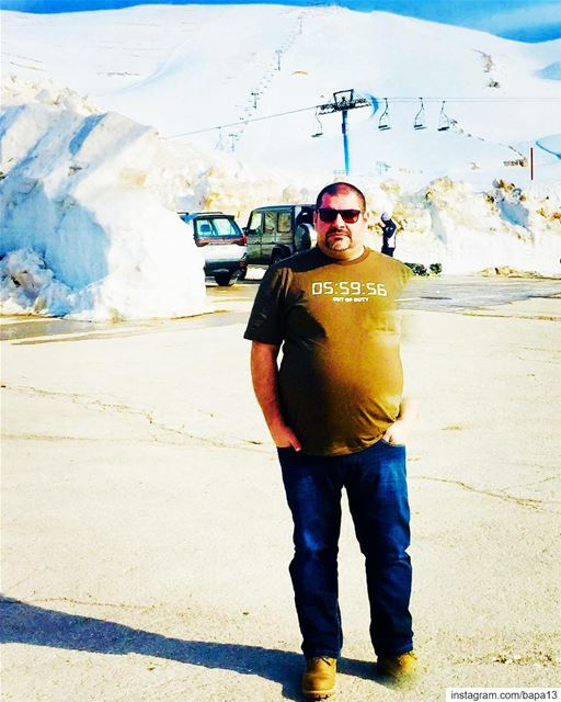 me  myself  abouja2ra  nature  white  snow  sunnyday  bluesky ... (Mzaar Kfardebian)