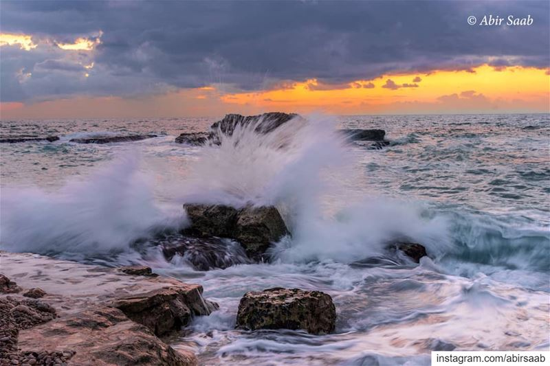 Splash.. Swim your worries away! ...  lebanon  beach  sunset  splash ... (Tabarja)