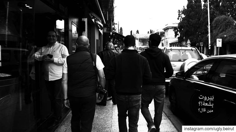 🇱🇧 People on the street ( Black and white serries) uglybeirut  بيروت_مش (Hamra, Beyrouth, Lebanon)
