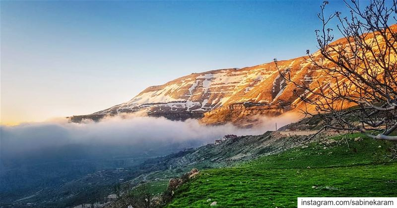 هون السّما قريبي  lebanon  sunset  mountains  scenery  sunsets ... (Sannine)