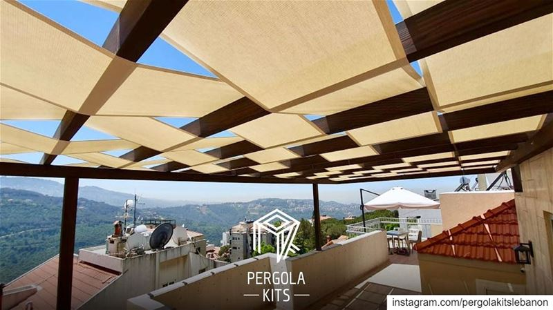 The Vendimia Wood Structure Pergola Kits with Fabric Roofing. ... (Monteverde Lebanon)