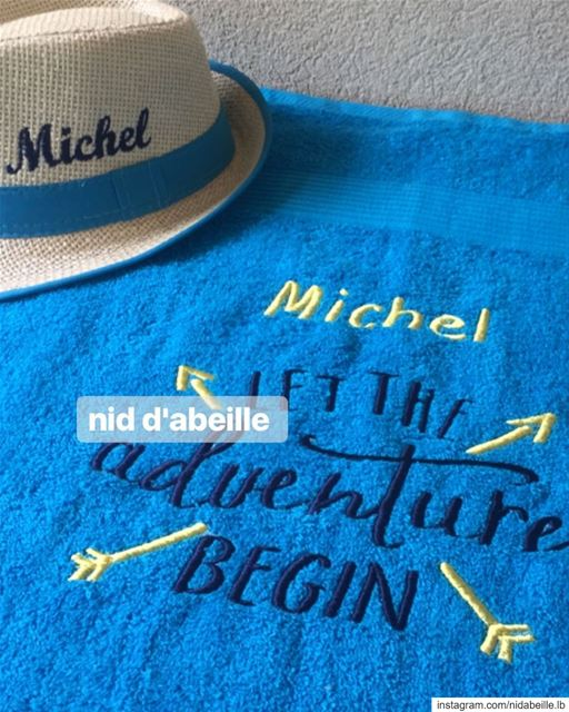 Let the adventure begin 🏄🏼 Write it on fabric by nid d'abeille ...