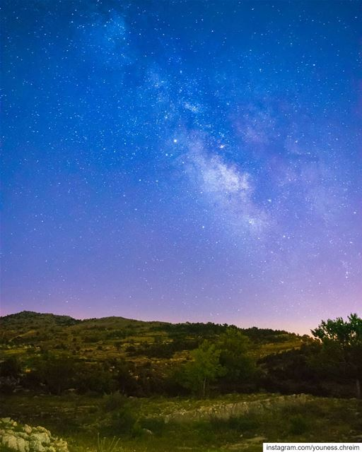 The Milky Way From South Lebanon milkyway  milkywaychaser  stars  night ...