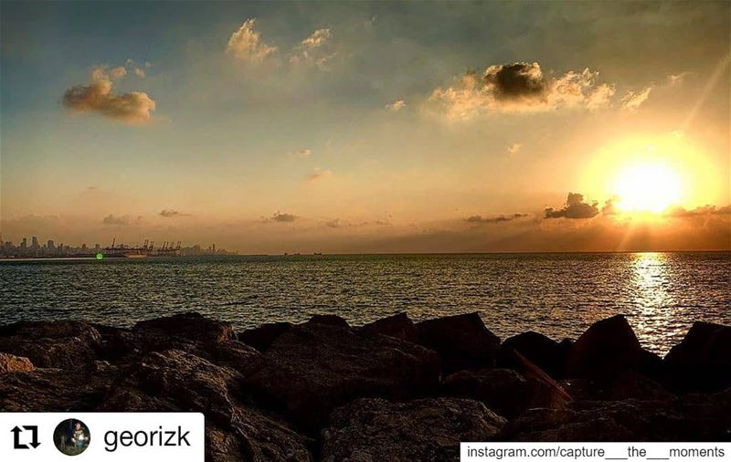 Repost @georizk• • • • • •Life is tough, but so are you.. sunset ...