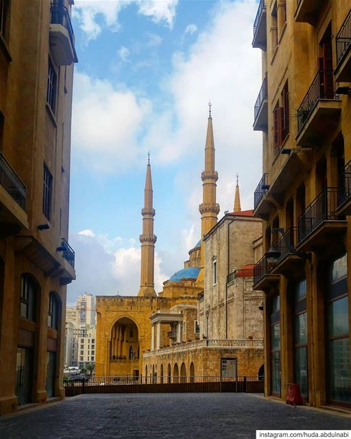 Hello from Beirut🌼💙 lebanon beirut downtown dt nature blue sky...