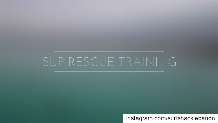 SUP Rescue Training with the civil defense marine rescuers. -We believe... (Civil Defence Jounieh)