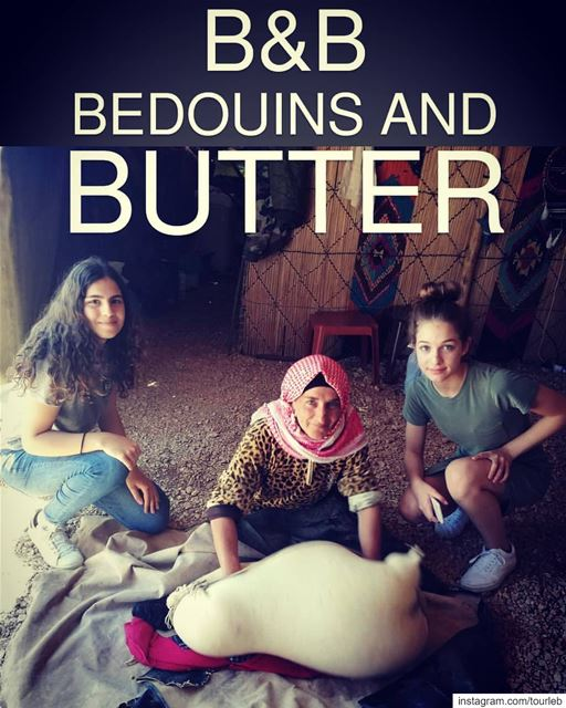 When you meet traditions on your path... B&B BEDOUINS make Butter... Live... (Hadath Ba`Albakk, Béqaa, Lebanon)