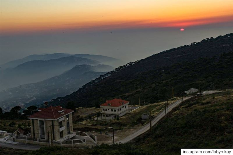 First sunset in July 2019There is a reason why we love the nature.. 🌄___ (Falougha, Mont-Liban, Lebanon)