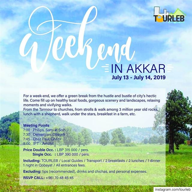Don't miss our next  weekend in @lb_akkar. Taste  amazingfood walk on the... (Akkar)