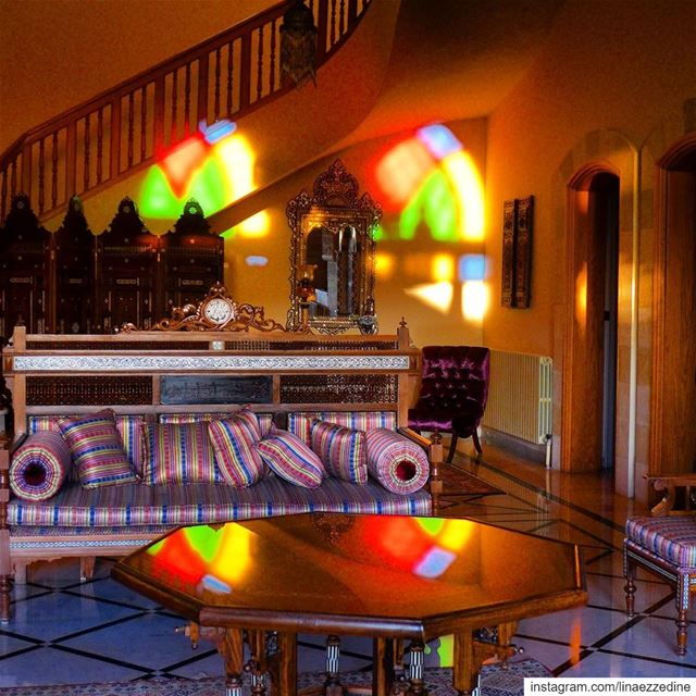 Colors and light, the magic of stained glass..... @lebanonlivinglegacy ... (Hammana)
