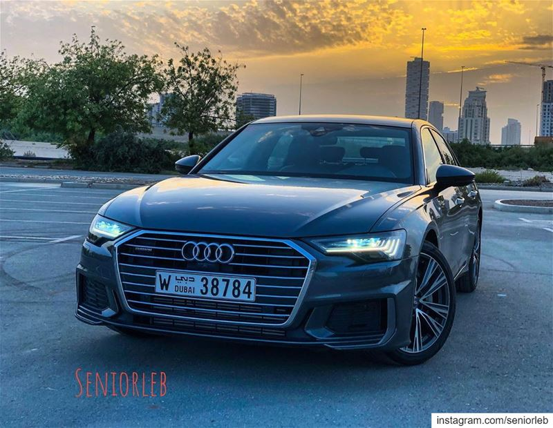 The Audi A6 55 TFSI is the first hybrid with small electric motor⚡️I'm... (Dubai, United Arab Emirates)