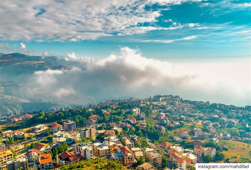 Ehden clouds mountains lebanon Pysglb Nature Landscape Photography... (Saydet El Hosn - Ehden)