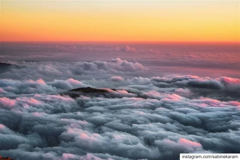 Above the clouds, above the nasty crowd...  lebanon  sunset  mountains ...
