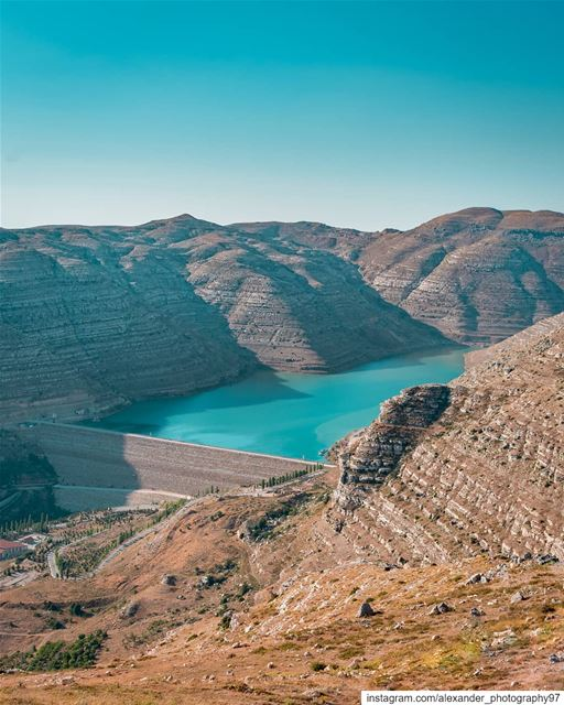 Good Morning from the beautiful Faraya landscapes - Shabrouh Dam lake - 28/ (Faraya, Mont-Liban, Lebanon)