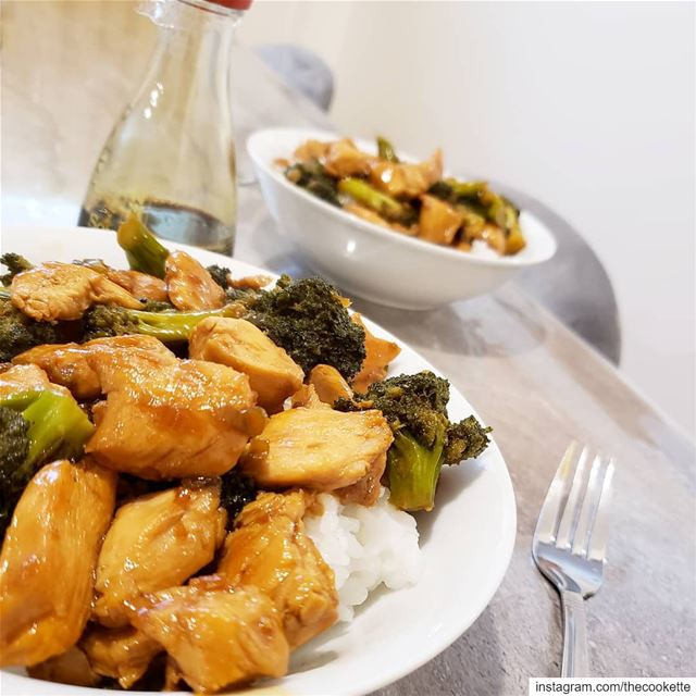 Teriyaki Chicken and broccoli 🌸Ingredients🌸1 chicken breast2 cups of... (Greater Montreal)