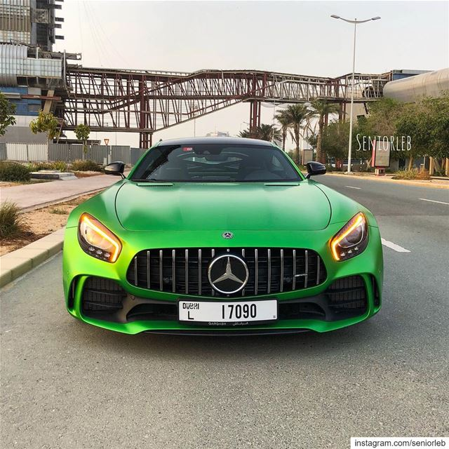 AMG GTR in Magno Green looks so mean. I can't wait to share with you the...