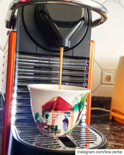 Even for espresso lebanesehouse  lebanesartist  handmade  coffeecups ...