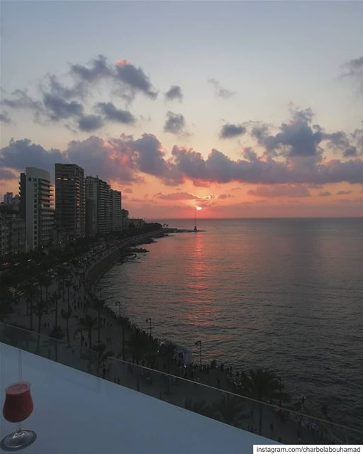 Beirut sunset lebanon  livelovelebanon  livelovebeirut  beiruting... (Beirut, Lebanon)