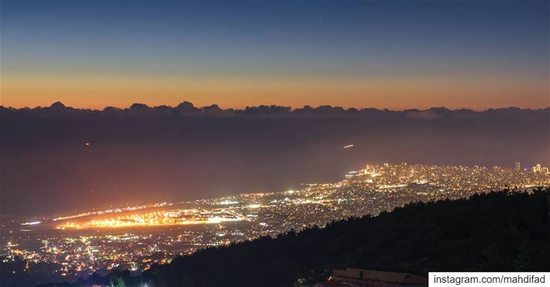 Sunset Beirut city lights mountains lebanon Pysglb Nature Landscape... (Kayfun, Mont-Liban, Lebanon)