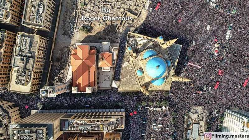 More than 1 Million and 700,000 People were saying no Today - النافذة لا تسع الشعب - لبنان ينتفض