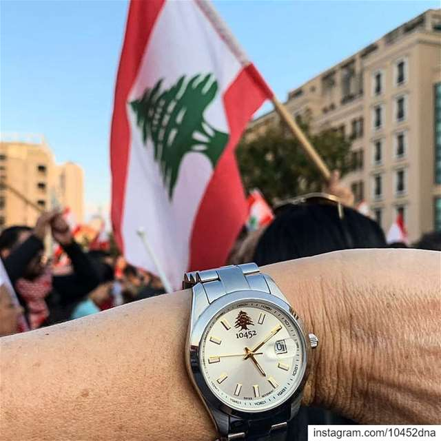 time for  change  Lebanon  watch the  lebaneserevolution  handinhand ... (Martyrs' Square, Beirut)