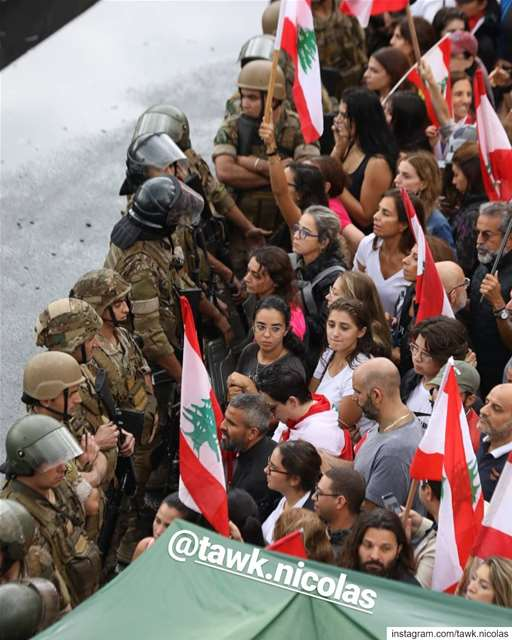 Mothers sisters we love you revolution lebanon... (Jall Ed Dîb, Mont-Liban, Lebanon)