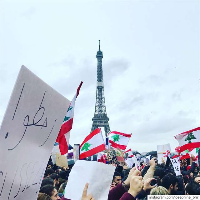 From Paris with love. We stand with Lebanon 🇱🇧❤️✨  proudlylebanese...... (Trocadéro)