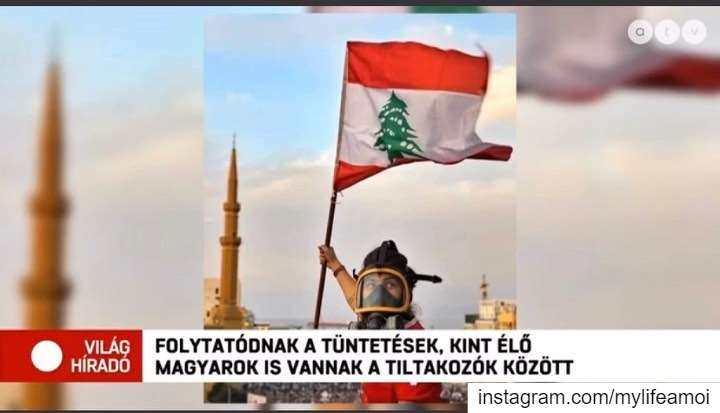 Yesterday's Hungarian news feature - Report by Anna Garay 🇭🇺🇱🇧 I'll... (Beirut, Lebanon)