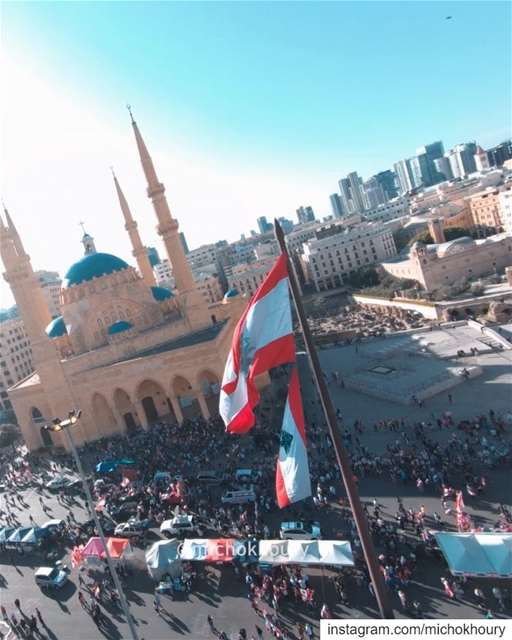 We did it our way!Happy Independence Day  LEBANON ❤ لبنان_ينتفض....... (Beirut, Lebanon)