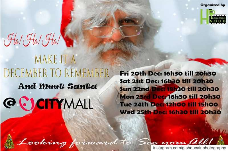 Santa's waiting for your little ones!@hnoudprod@joehnoud@citymall_leban (City Mall Dora)