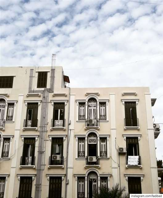 French colonial style architecture in Beirut ... (Beirut, Lebanon)