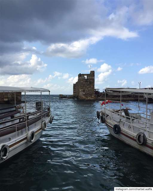 Favorite!!  sea  travel  sky  instatravel  traveling  clouds  traveler ... (Byblos - جبیل)
