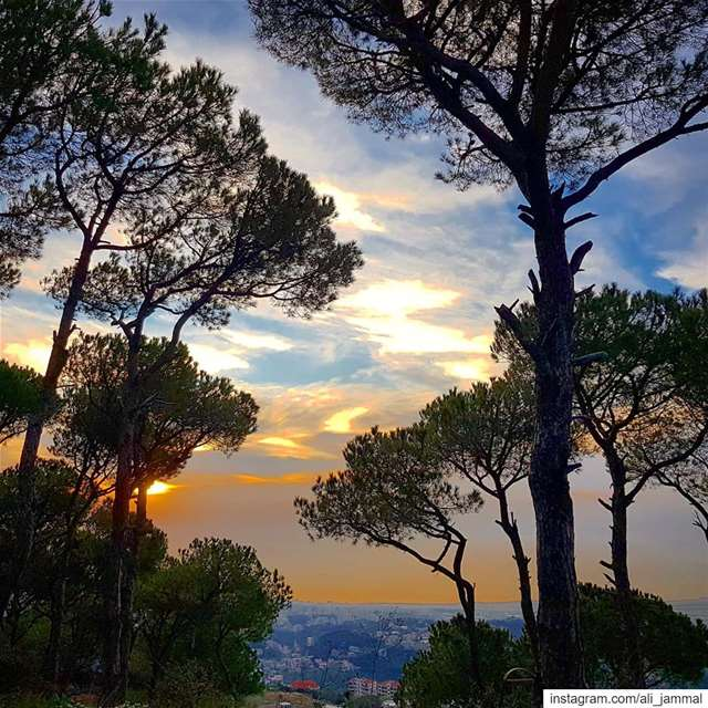 lebanon  beirut  mountain  nature  byme  sunset  igers  ig_lebanon  sky ... (Mount Lebanon Governorate)