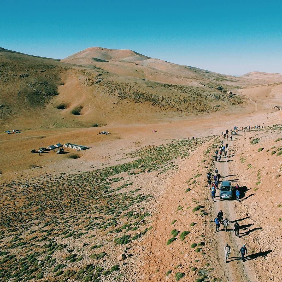 Hiking to Qornet el sawda (Qurnat as Sawda')