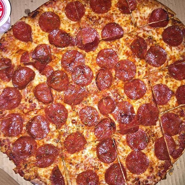 Thin Crust Pepperoni Pizza Domino S What Are You Having