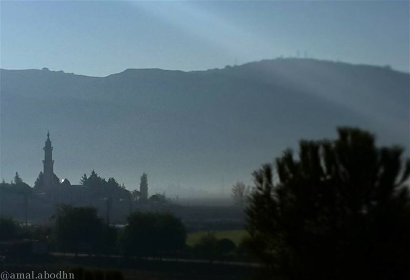 morning morningview fromclass mosque temple clouds fog foggy weather... (Liu Bekaa)